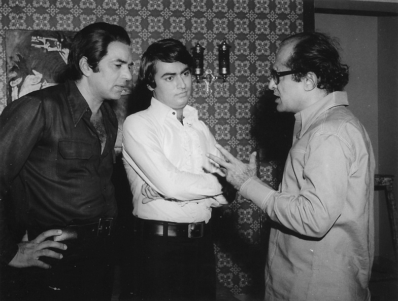 Dharmendra, Tariq Khan and Nasir Husain. Courtesy Tariq Khan.