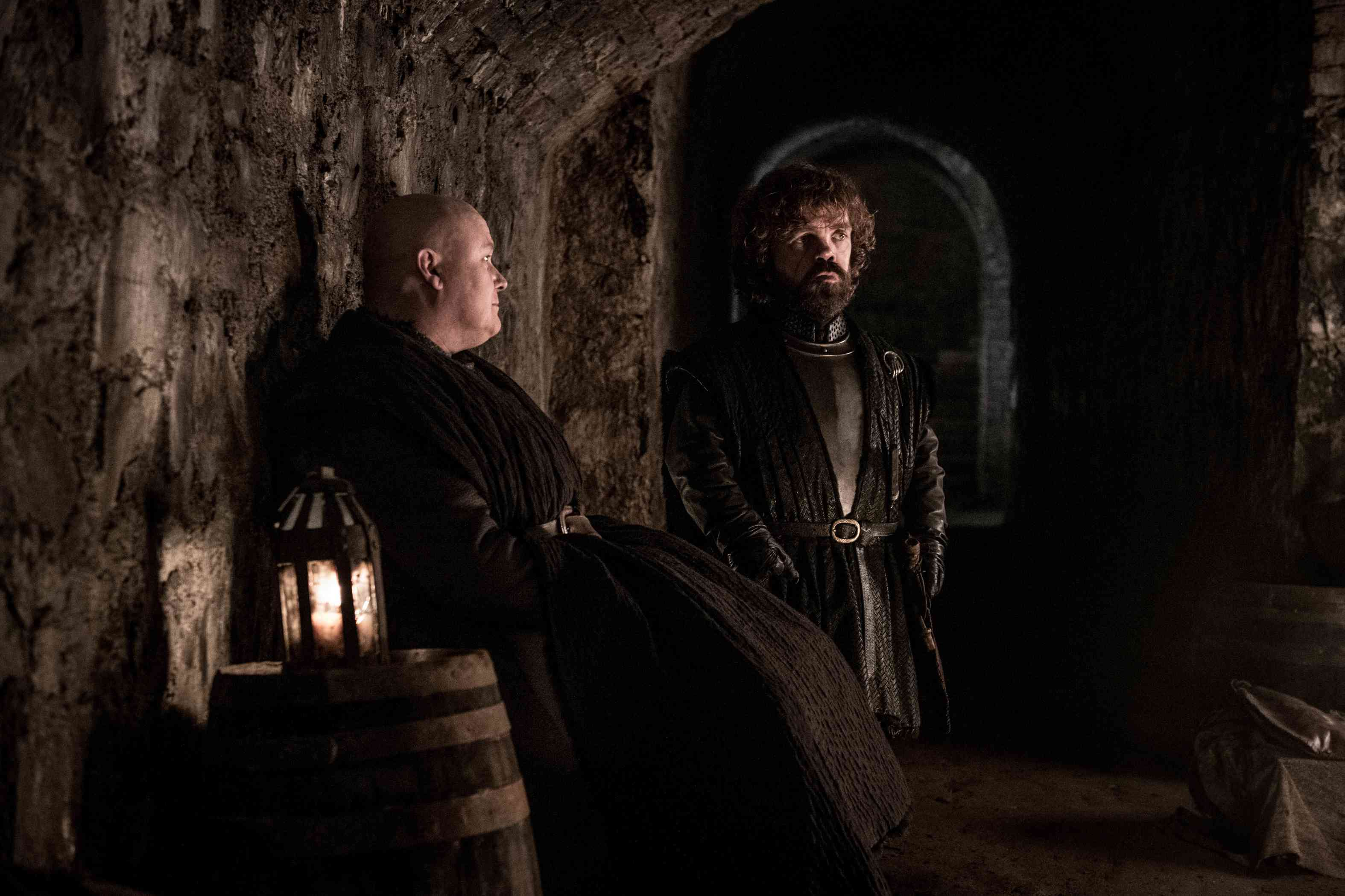 Conleth Hill and Peter Dinklage as Lord Varys and Tyrion Lannister. Courtesy HBO.