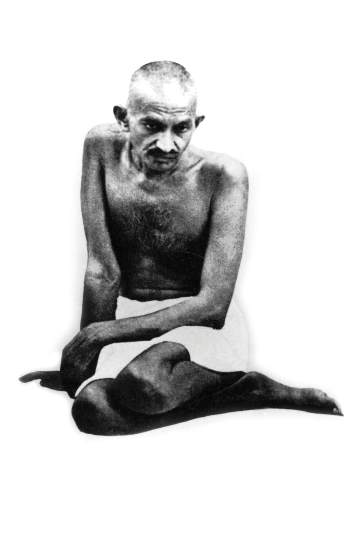 Gandhi's anti-colonialism extended to clothes. While the traditional Indian menswear of wearing only a dhoti was seen as uncivilised, Gandhi embraced it to be close to the common Indian. Credit: Getty Images