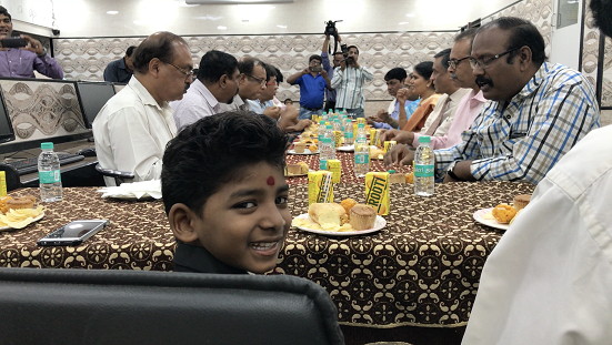 Sunny Pawar at the function. Photo by Venkataraghavan Rajagopalan.