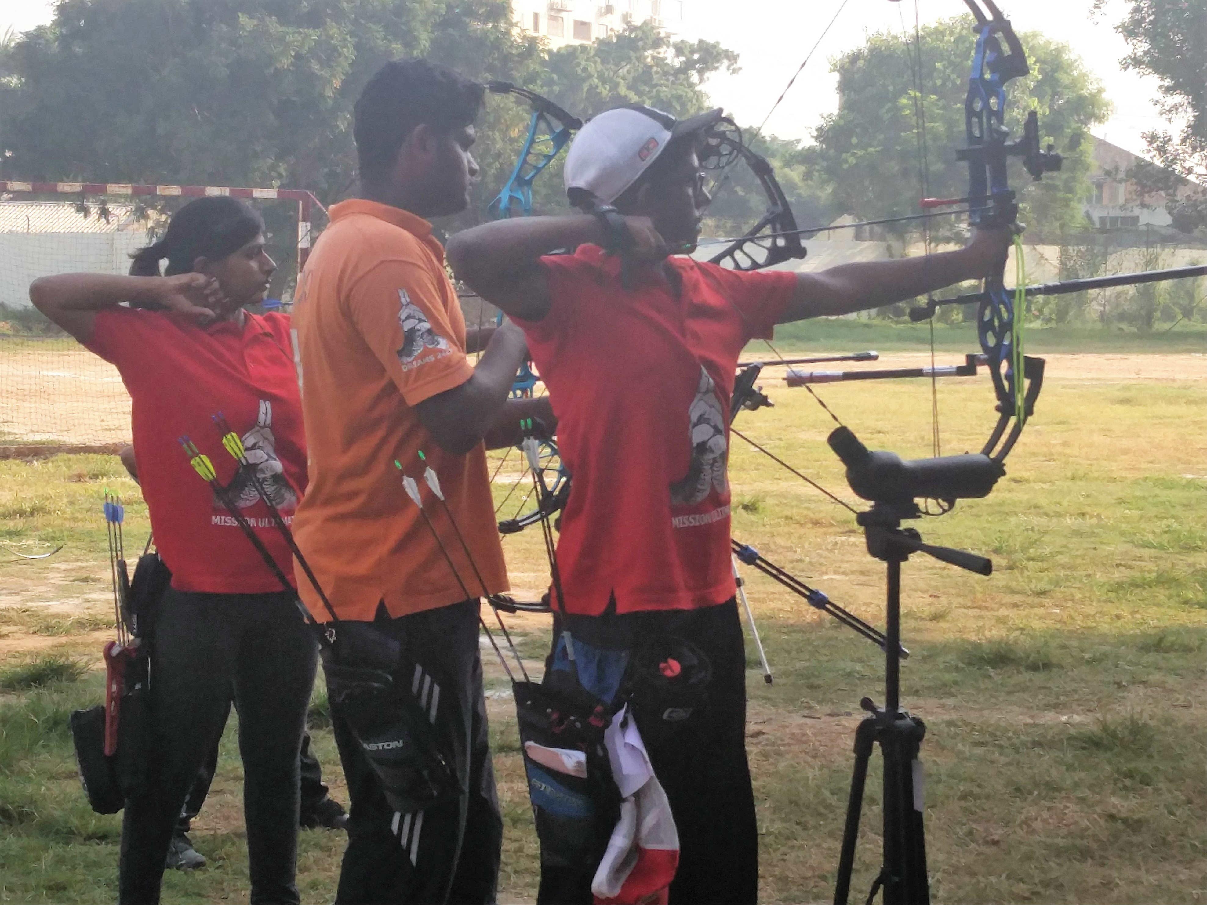 Training session for state level archers.