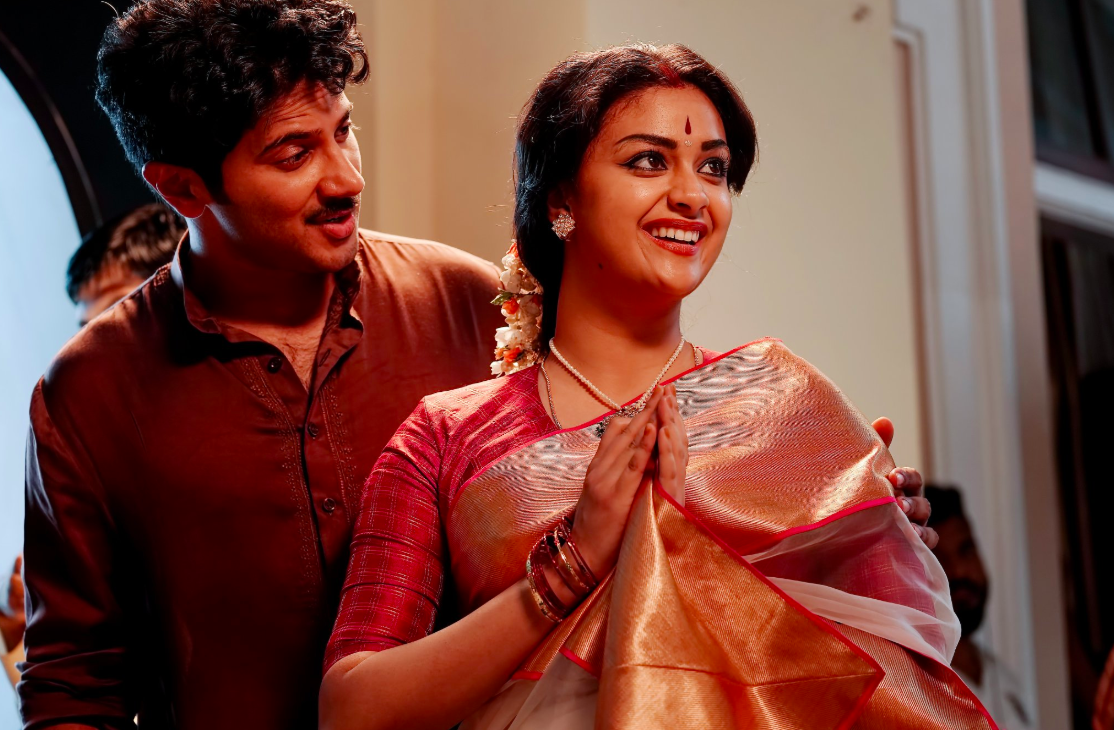 Keerthy Suresh and Dulquer Salmaan in Mahanati. Image credit: Vyjayanthi Movies.