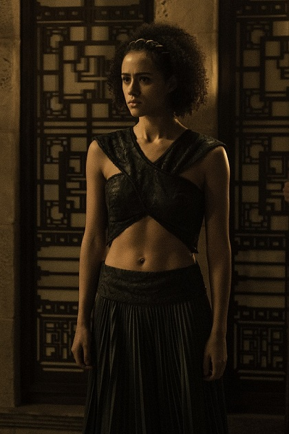 Nathalie Emmanuel as Missandei in Game of Thrones. Image credit: Home Box office, Inc.