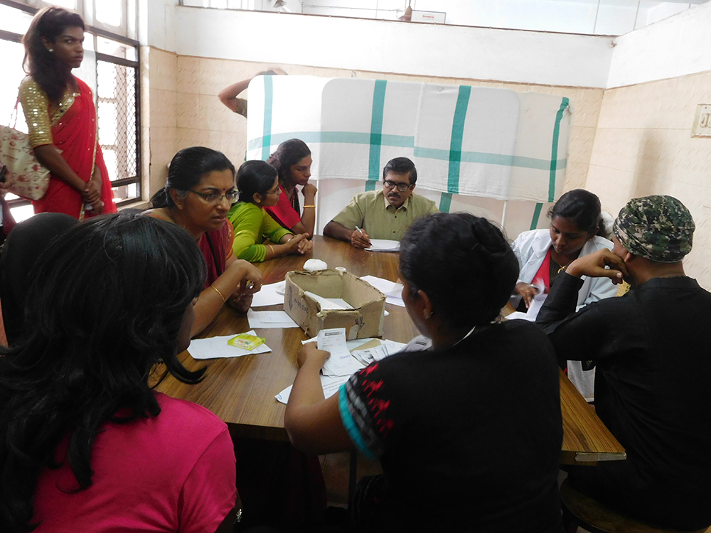 Panel of doctors from five specialties consultation patients at the multi-disciplinary transgender clinic at the Government Medical College Hospital at Kottayam on July 4. Photo credit: TA Ameerudheen