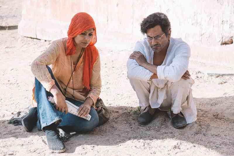 Nandita Das and Nawazuddin Siddiqui on the sets of Manto. Courtesy Aditya Varma.