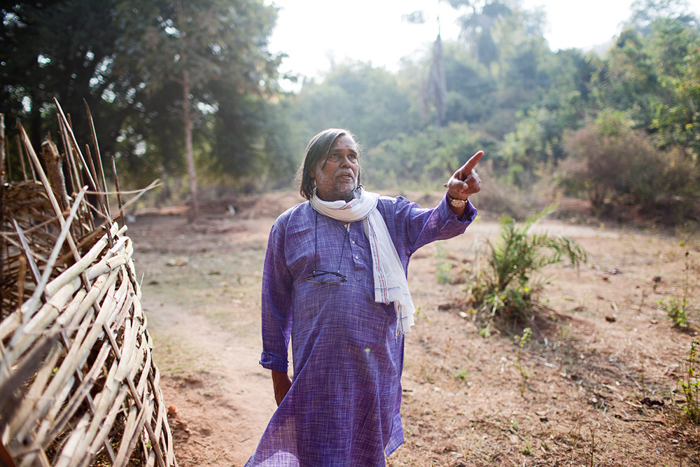 Prafulla Samantara, who petitioned the Supreme Court against Vedanta's proposed bauxite mine in Niyamgiri, was awarded the Goldman Environmental Prize in April. Photo credit: Nikhil Roshan.