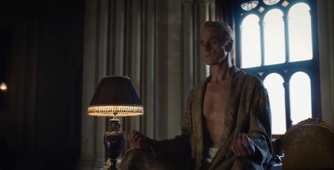 Jeremy Irons as Adrian Veidt/Ozymandias in Watchmen. Courtesy HBO.