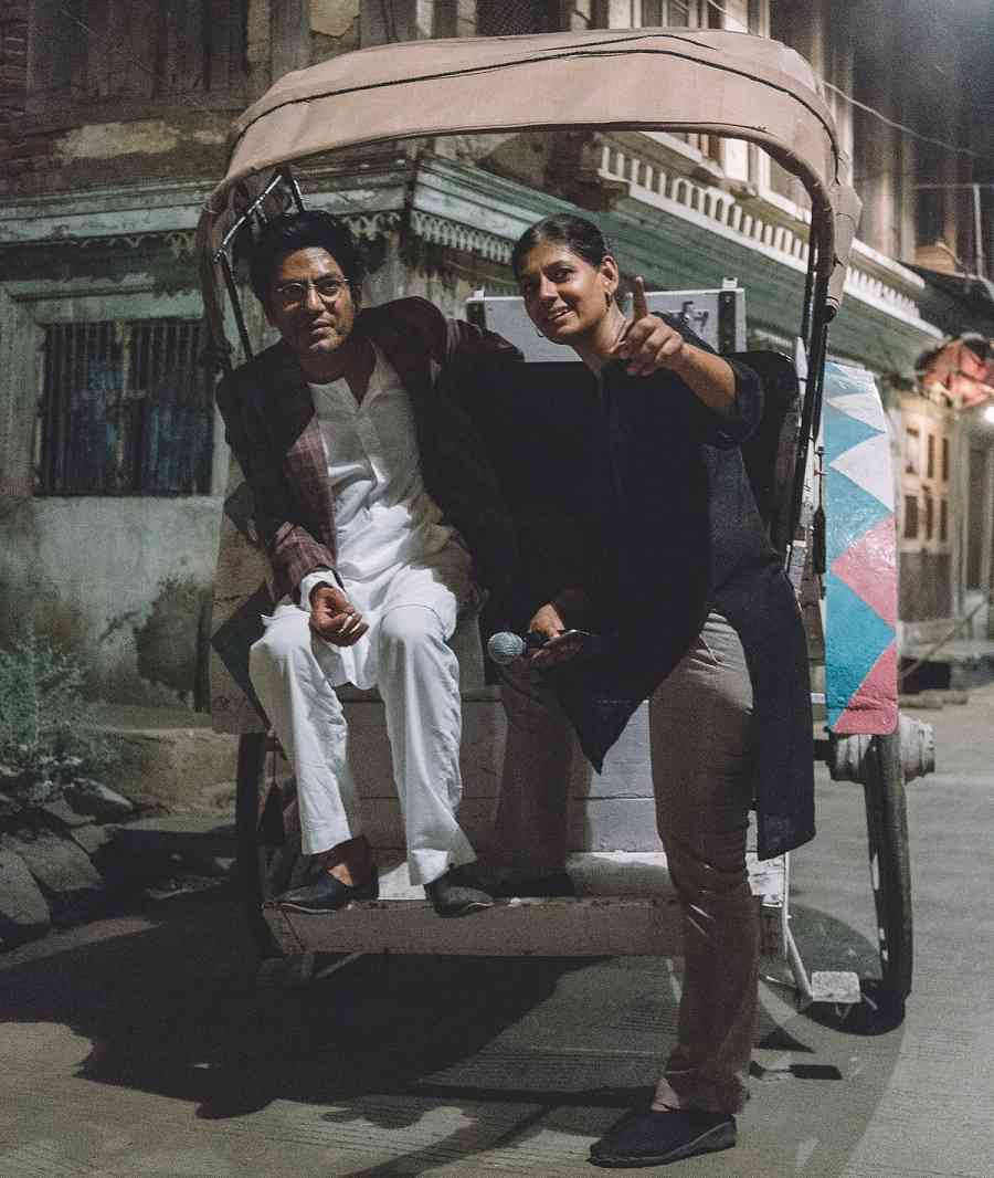 Nawazuddin Siddiqui and Nandita Das on the sets of Manto. Courtesy Viacom18 Motion Pictures.