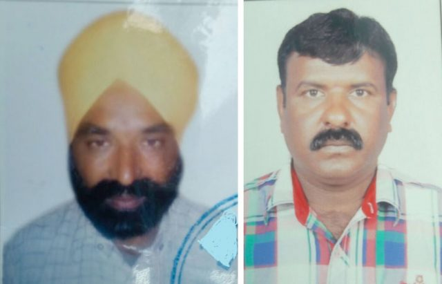Jaswinder Singh and P Satyanarayana worked at the same construction company for 23 years.