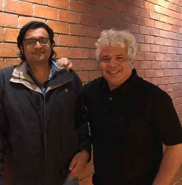 With Arnab Goswami. Image courtesy: Image courtesy: Facebook/Suhel Seth. April 15, 2017.