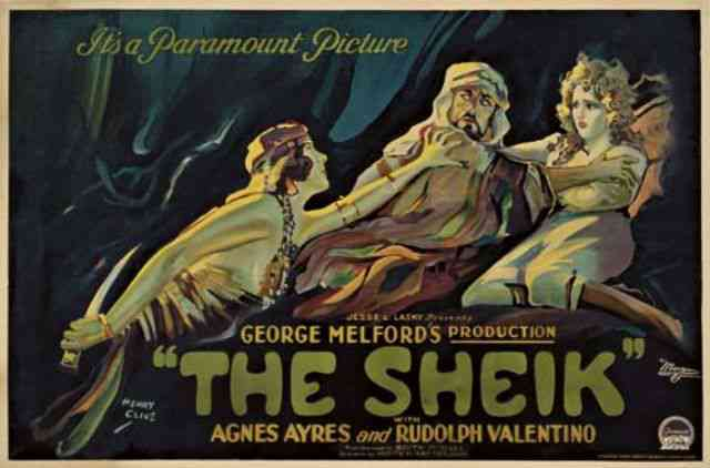 A movie poster for The Sheik (1921).