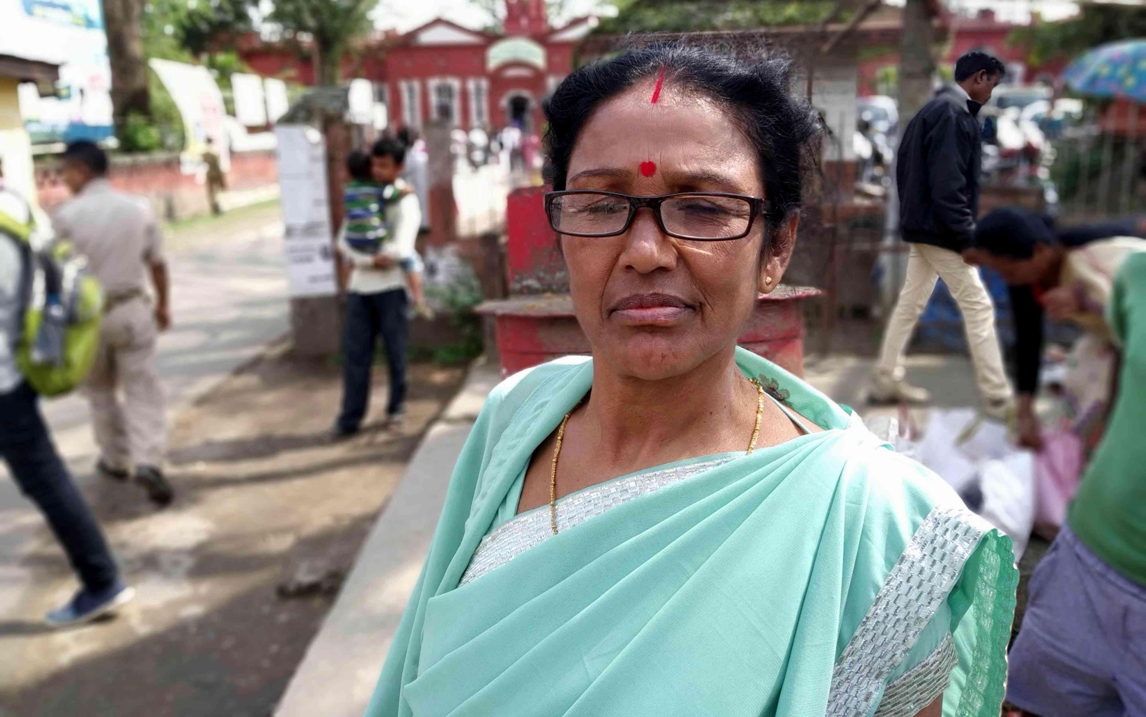 Mamoni Bora is a homemaker in Jorhat town. Photo credit: Arunabh Saikia