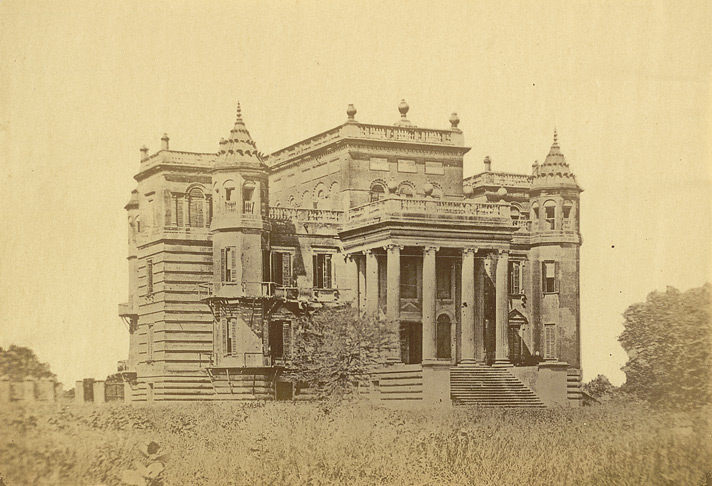 Dilkoosha [Dilkusha Palace, Lucknow] by Abbas Ali, c. 1874. Photo credit: British Library, Photo 988(5)