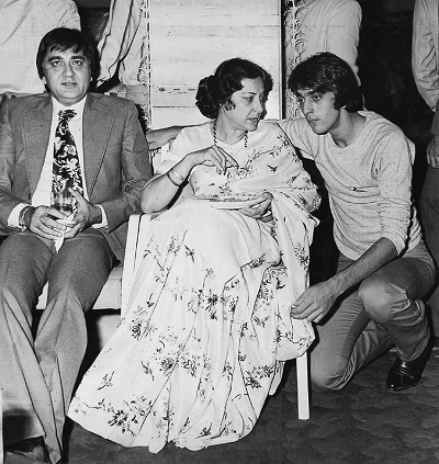 Sunil Dutt, Nargis and Sanjay Dutt. Courtesy Sanjay Dutt, One Man Many Lives, Rupa Publications.