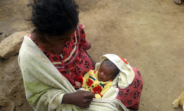 Kala and her newborn.