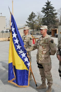 Bosnian troops in Afghanistan with the International Security Assistance Force (ISAF), 2015. Photo credit: Vanessa Vilarreal, USFOR-A Public Affairs