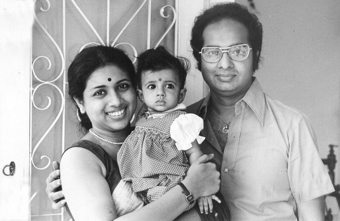 Ananda and Tanusree with their daughter Sreenanda. Courtesy Tanusree Shankar.