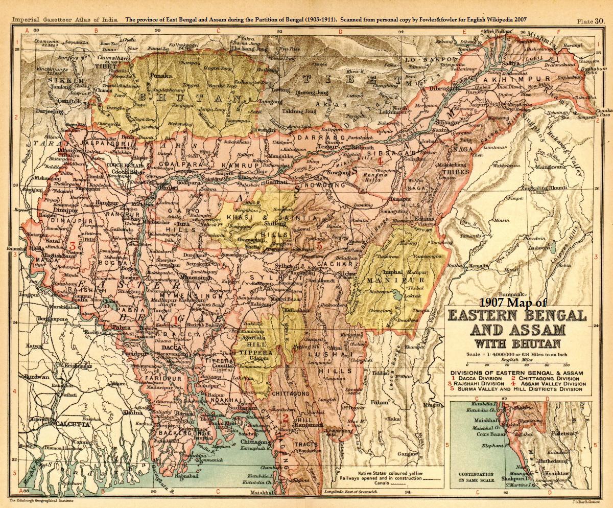 संयुक्त बंगाल का नक्शा, फोटो :  ऑक्सफोर्ड यूनिवर्सिटी प्रेस