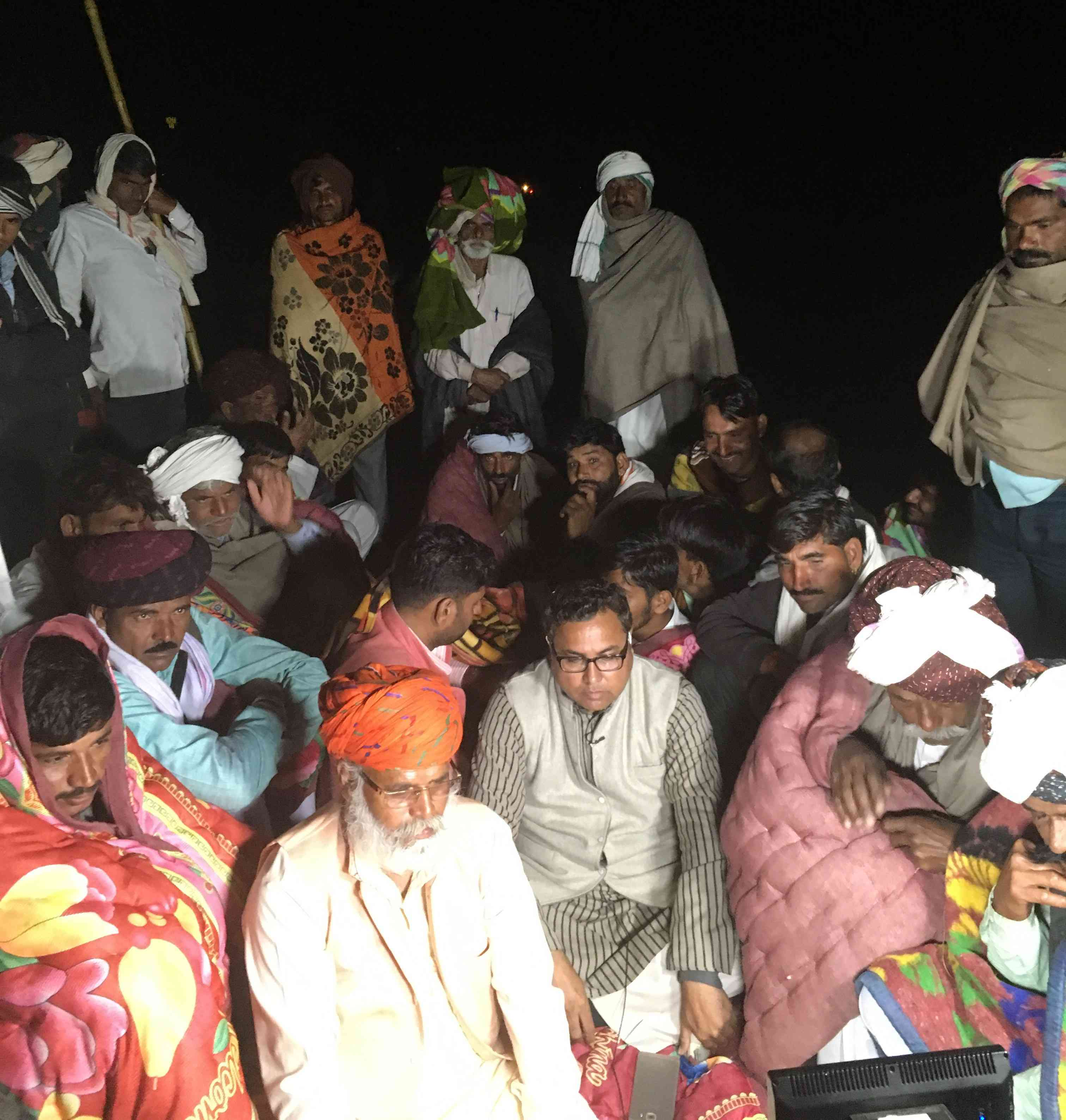 Gujjar protestors near Malarna station in Rajasthan's Sawai Madhopur. Photo credit: Akash Bisht