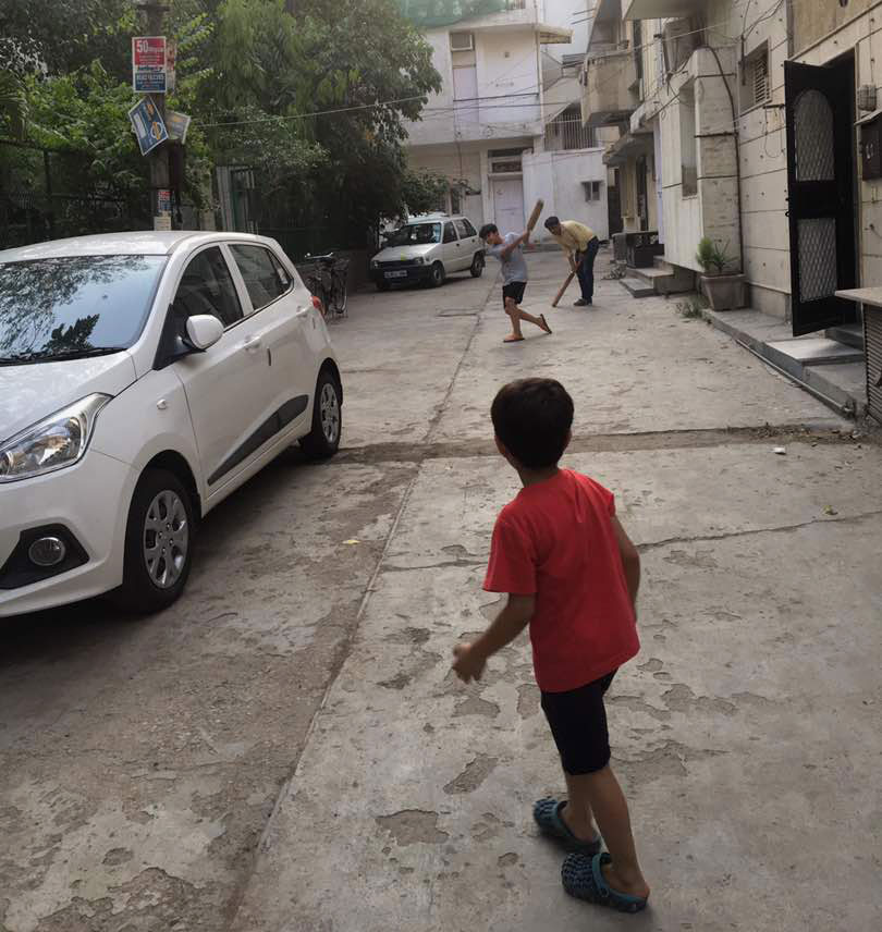 Monika Chaudhary's son plays cricket.