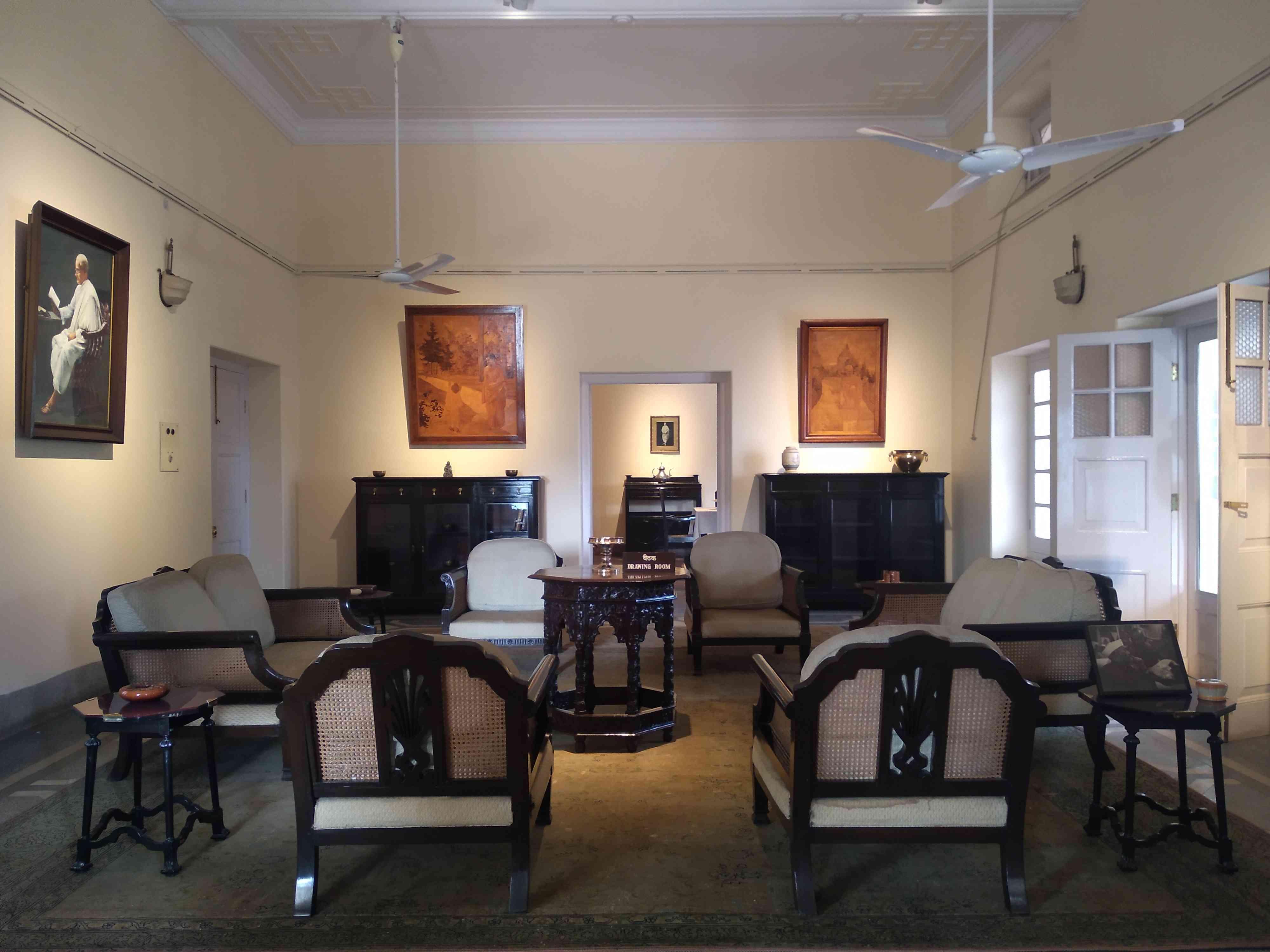 नेहरू परिवार का बैठक कमरा