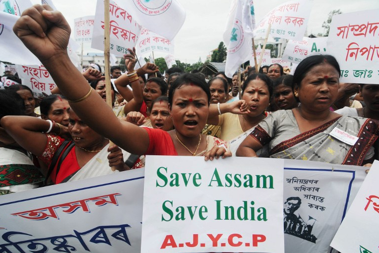 The majority of people in Assam have rejected any attempt to give citizenship to illegal migrants. (Photo credit: Biju Boro / AFP)