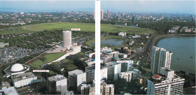 The Shiv Sagar Estate, the Nehru Centre and the Happy Home and School for the Blind in Worli.