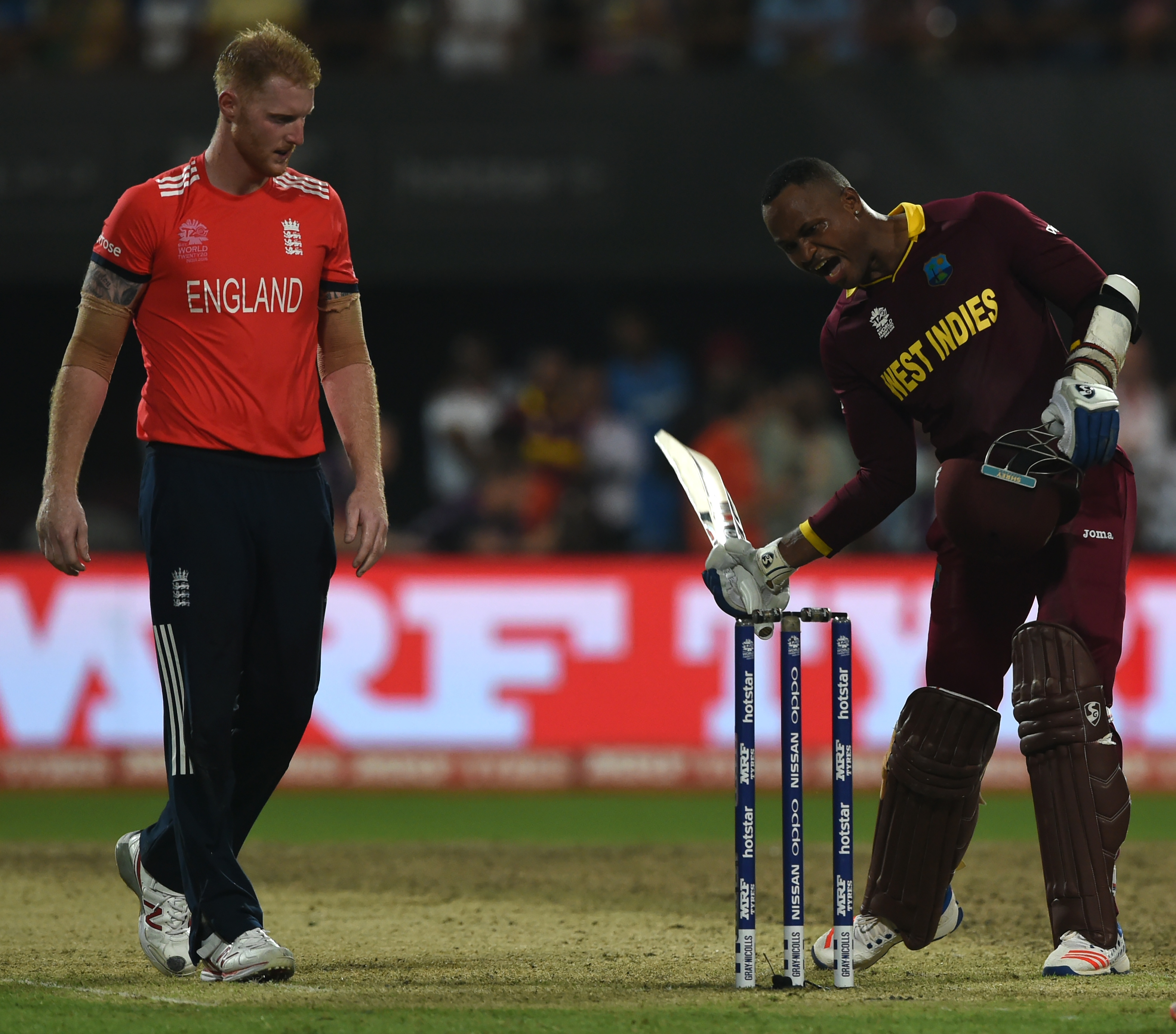 Marlon Samuels was the Man of the Match in not one but two ICC World T20 finals. AFP