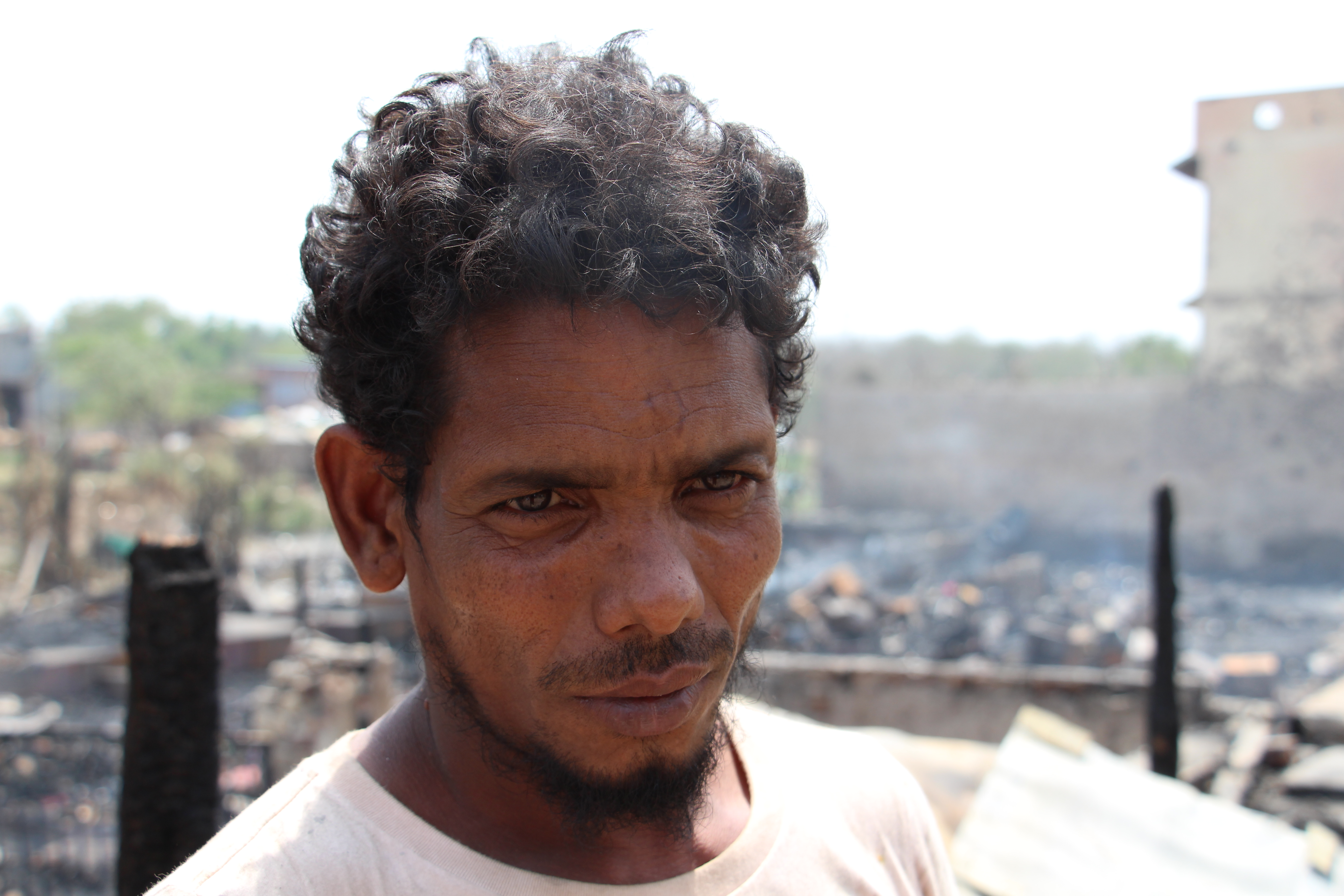 Syed Hussain, 35,  came to Delhi in 2012. He lost all his belongings in the fire. Photo: Aabid Shafi