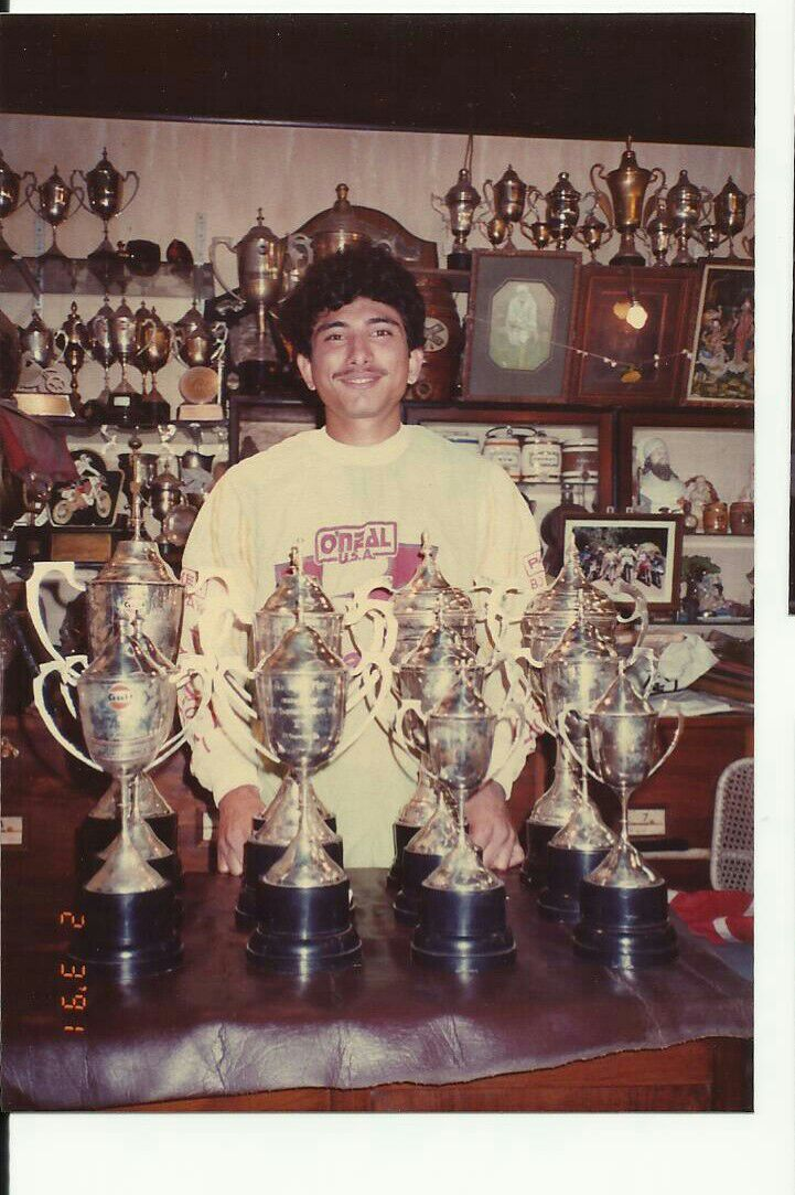Kaizad at home with his brass collection