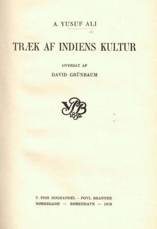 Træk af Indiens Kultur. Photo credit: British Library