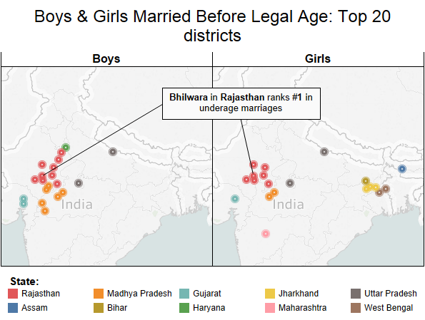 Child marriage especially of girls is on the rise in urban india note based on proportion of married girls 10 17 census 2011 altavistaventures Image collections