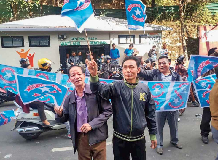 The Mizo National Front won 26 of the 40 Assembly seats in Mizoram while the Congress managed just five seats. (Credit: PTI)