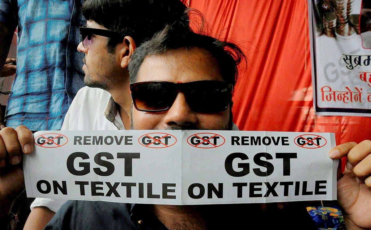 The introduction of GST sparked protests in Surat. Credit: PTI