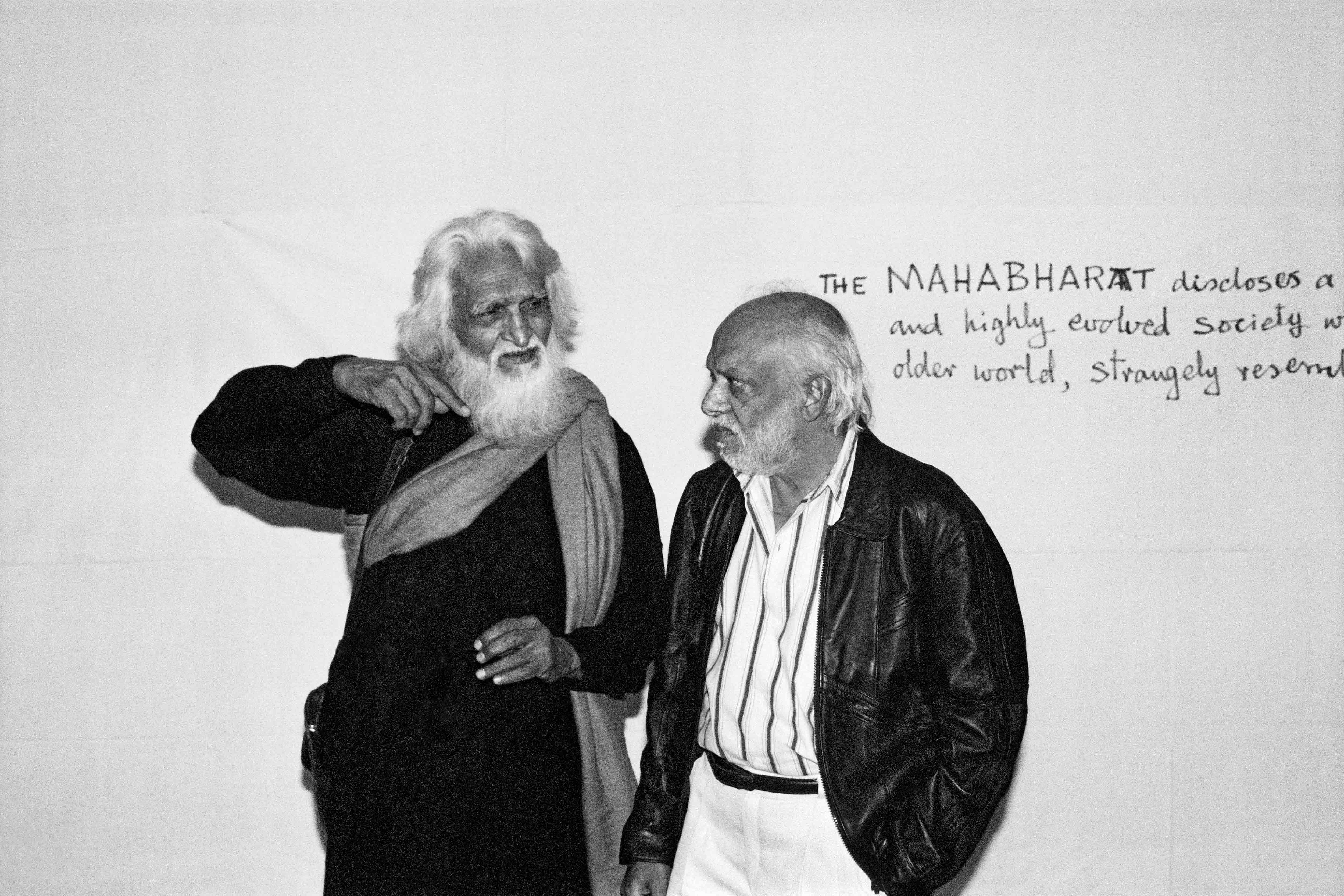 MF Husain with artist FN Souza. Image Courtesy: Parthiv Shah.