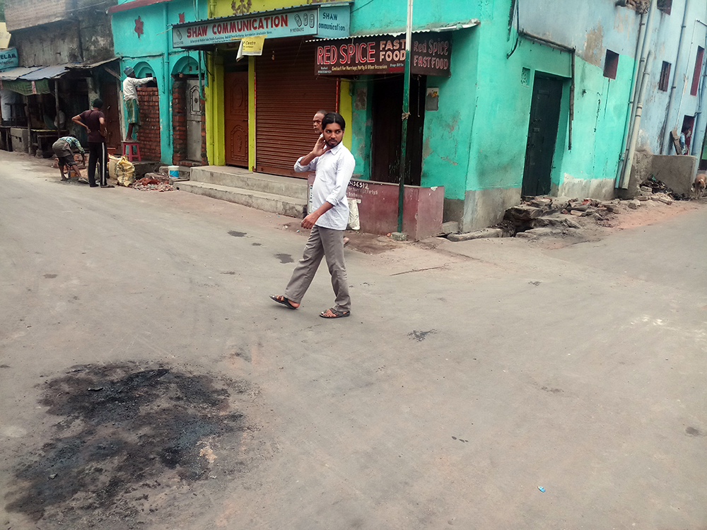 Rajbandh crossing where the clashes started in Raniganj. Photo: Gurvinder Singh