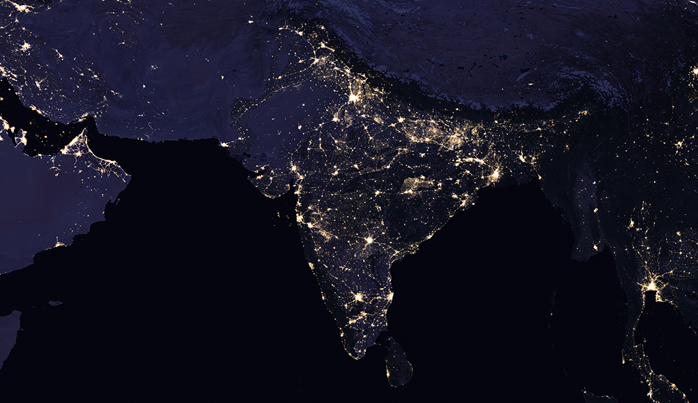 India night lights in 2016. Photo Credit: Nasa
