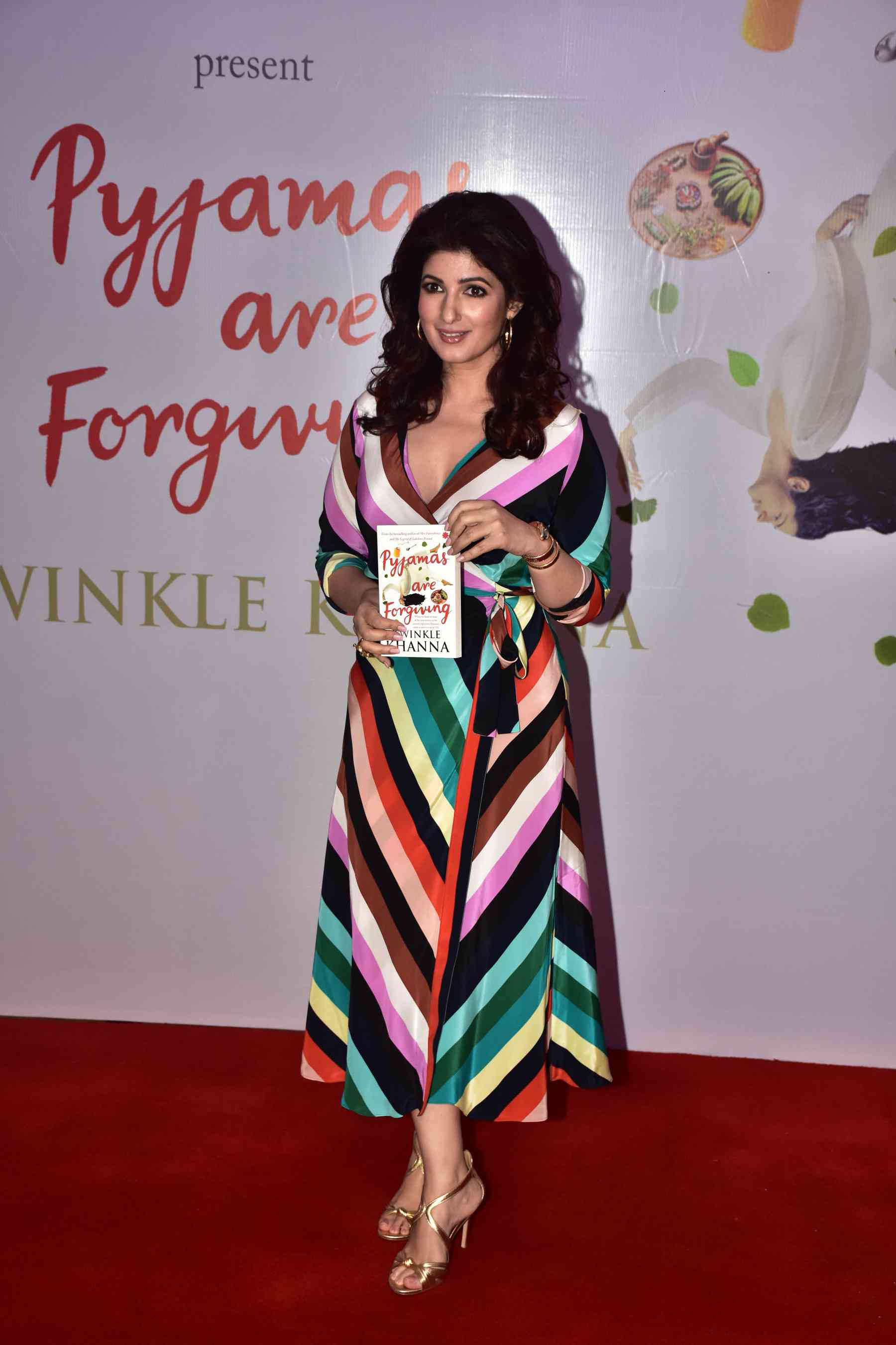 "Twinkle Khanna at the book launch of ""Pyjamas Are Forgiving""."