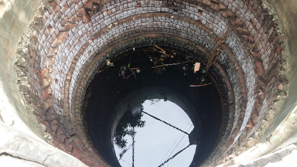 Black polluted water such as this can be found in Plachimada's wells.