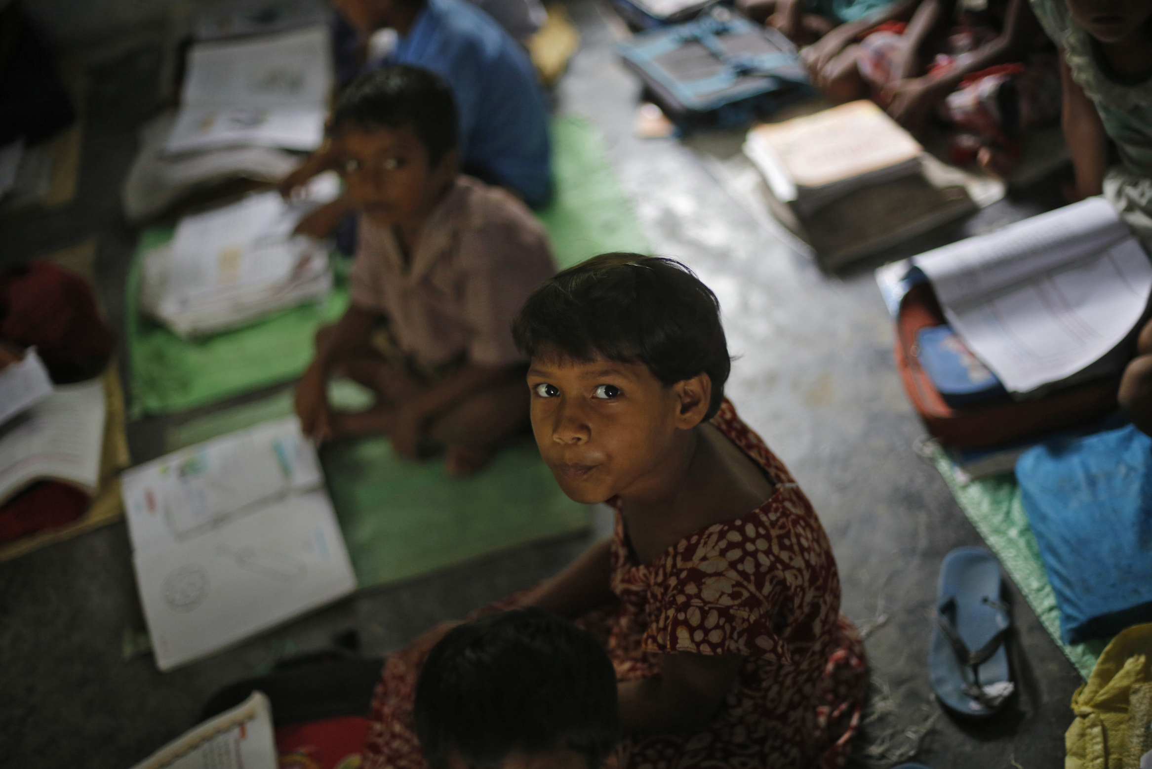A schoolgirl in a government school in Brahimpur village in Chapra district. Photo Credit: REUTERS/Adnan Abidi