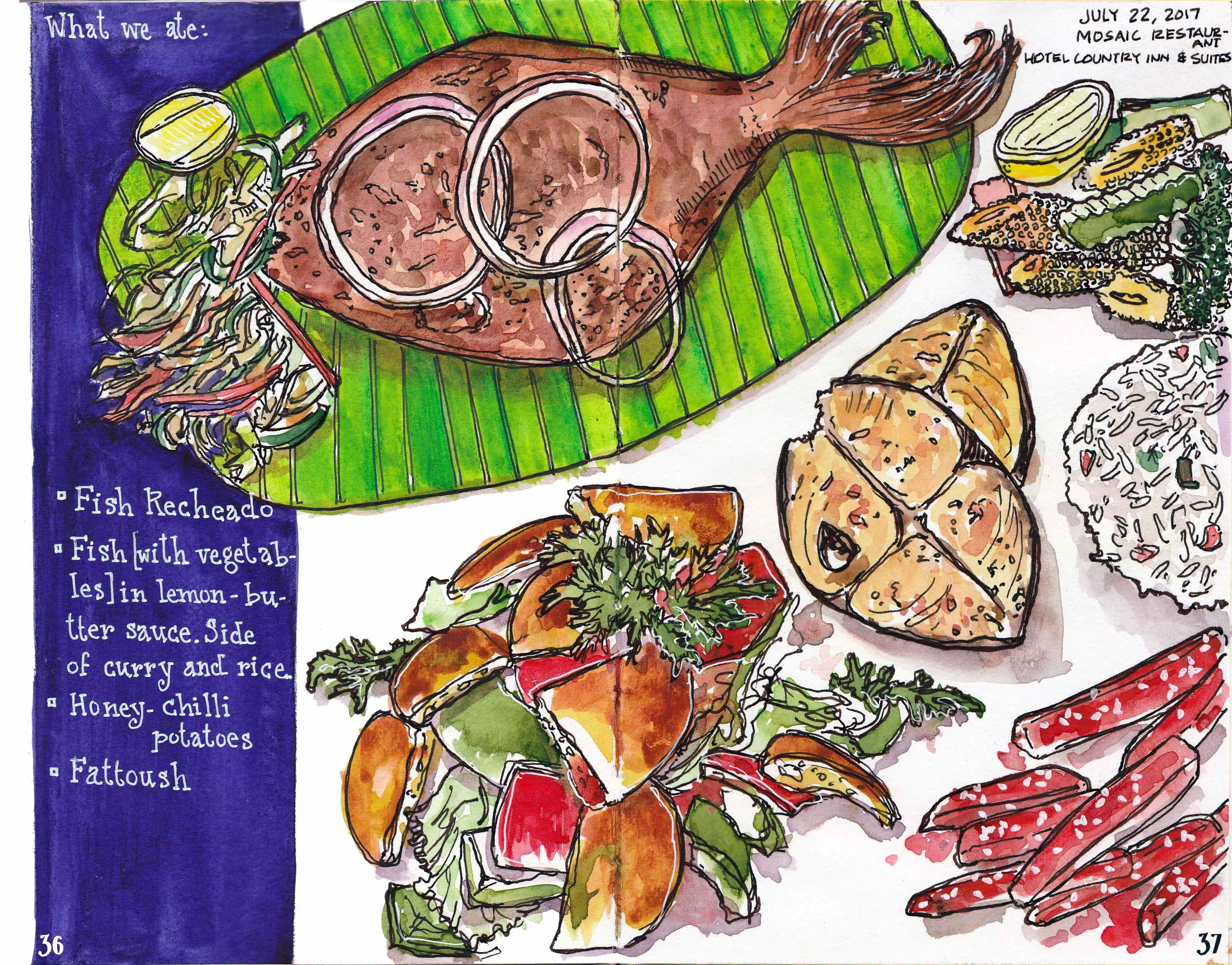 A page from the Goa chapter of 'Food Swings'. Image credit: Yasra Khoker.