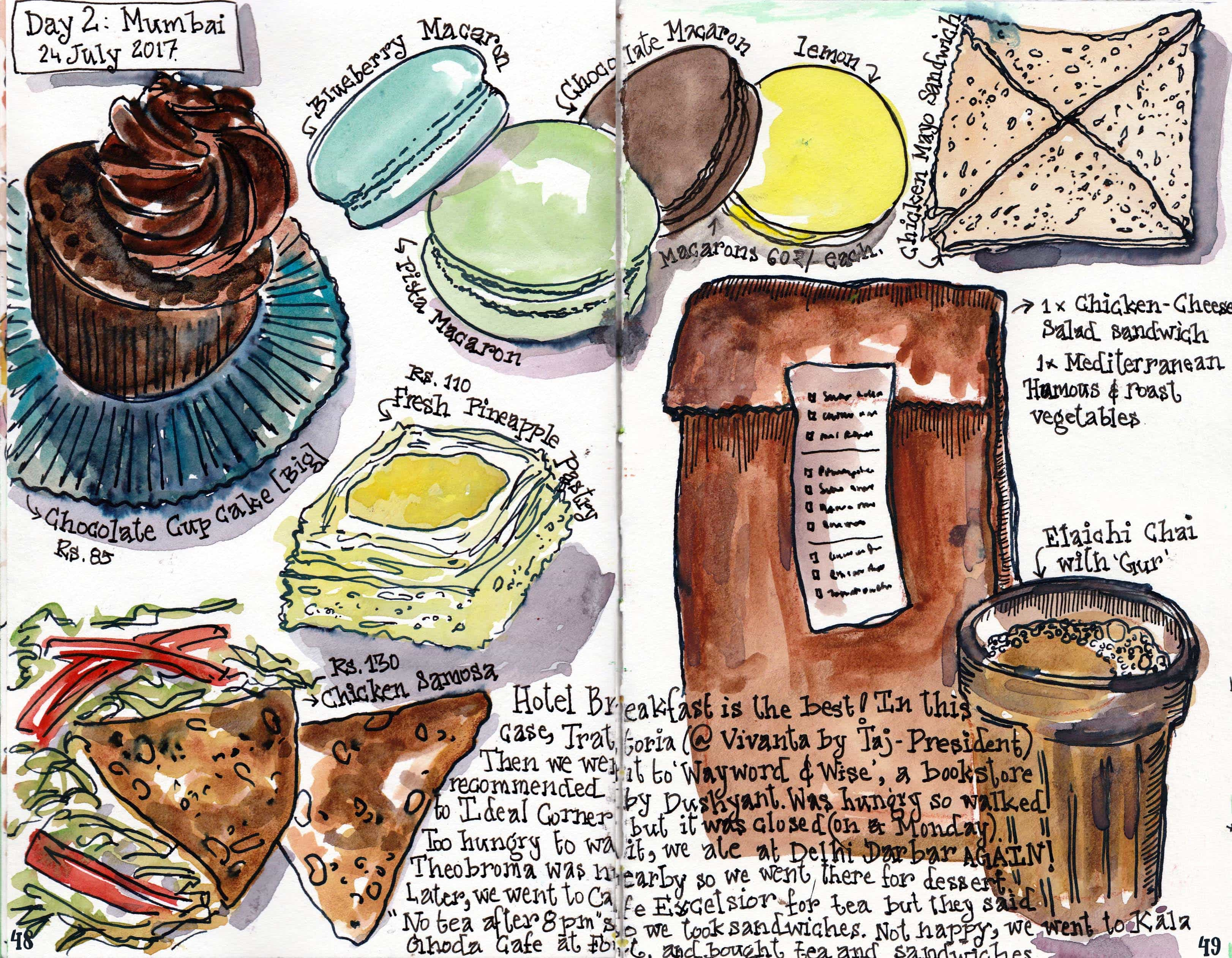 A page from the Mumbai chapter of 'Food Swings'. Image credit: Yasra Khoker.