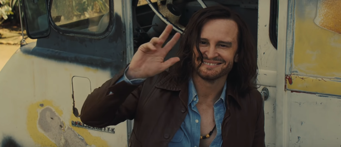 Damon Herriman as Charles Manson in Once Upon A Time In Hollywood. Courtesy Sony Pictures Entertainment.