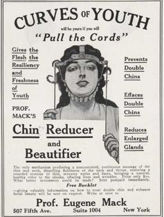 American advertisement for a 'chin reducer', c. early 20th century.