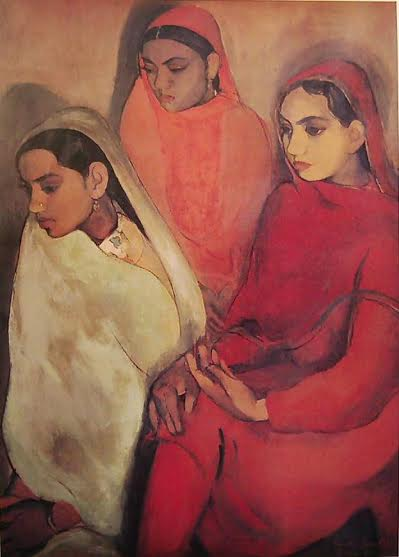 'Three Girls' was painted by the artist shortly after her return to India in 1934.