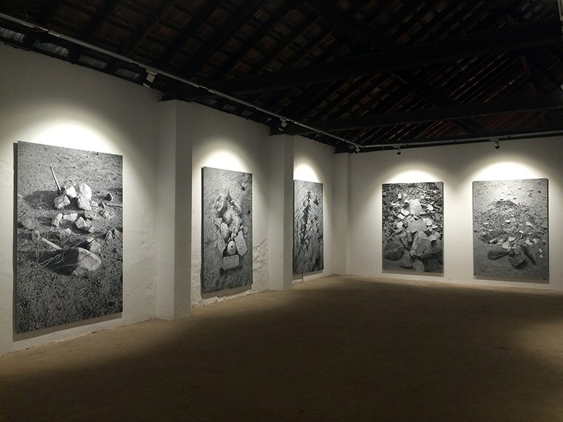 Installation view from the series, Traces, Kochi Biennale, 2016-'17. Image courtesy Gauri Gill.