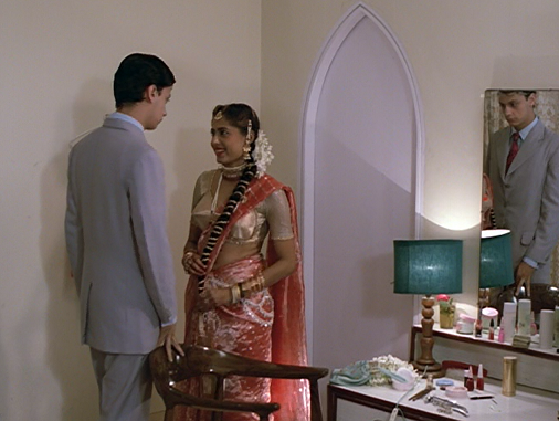 Aditya Bhattacharya and Smita Patil in Mandi.