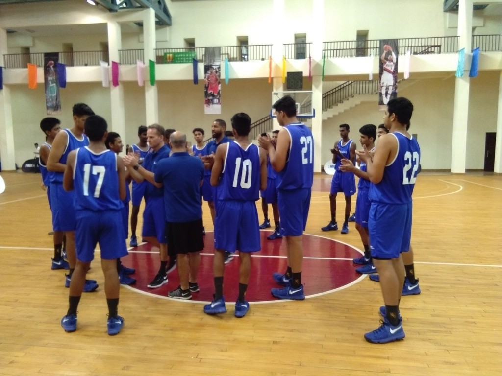 The 21 players take to the court at the Academy. (Image credit: Arka Bhattacharya)