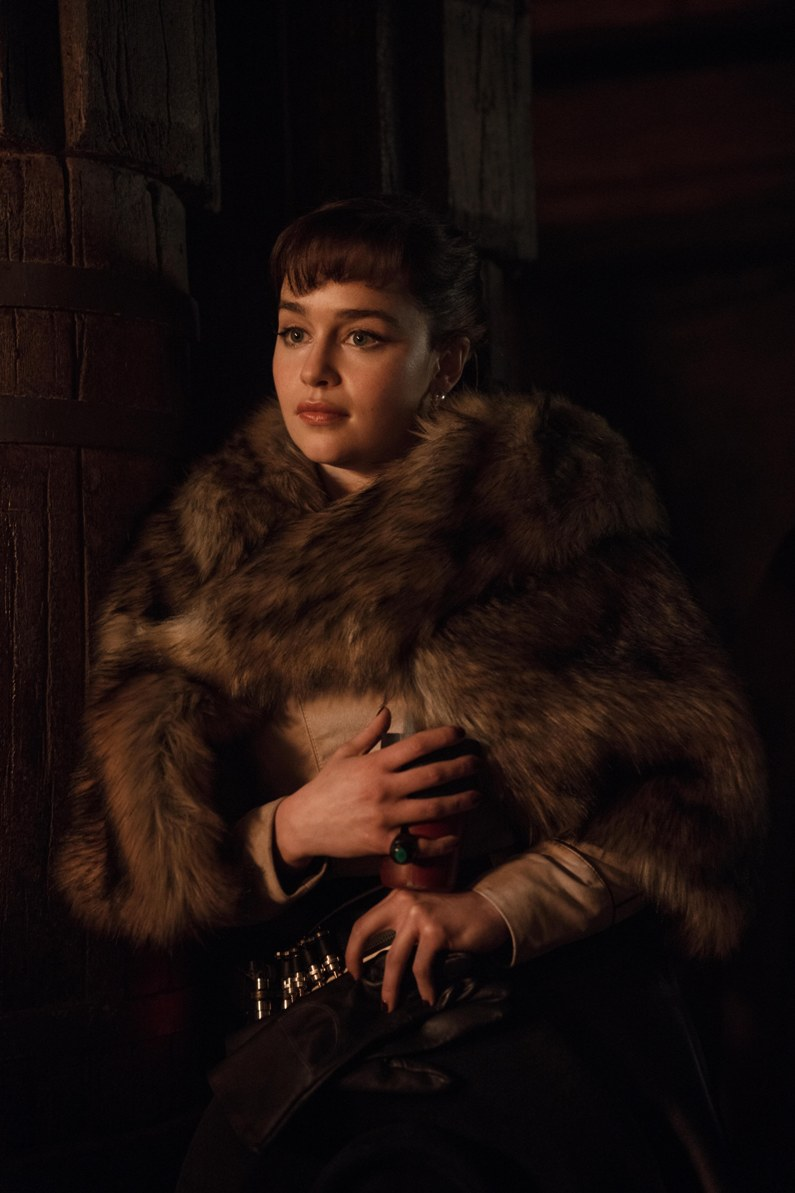 Emilia Clarke as Qi'ra in Solo: A Star Wars Story. Image credit: Lucasfilm.