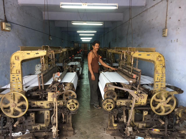 A textile worker in Surat. In the last five years, small and medium enterprises in Gujarat have struggled against rising Chinese imports, the entry of larger players from other parts of the state, demonetisation and now the Goods and Services Tax.